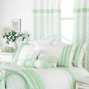 Vintage Pencil Pleat Curtains, Green, 170cm x 180cm