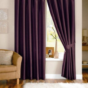 Dreams 'n' Drapes Java Aubergine Eyelet Lined Curtain 90x108