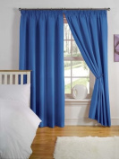 Light Reducing Thermal Backed Curtains- Size 170cm Width x 140cm Drop Colour Blue