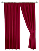 Dreams 'n' Drapes Java Red Eyelet Lined Curtain 90x90