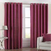 Fiji Faux Silk Eyelet Lined Curtains, Fuchsia, 230cm x 230cm