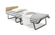 JAY-BE Venus Single Folding Bed with Dual Density Airflow Mattress, Auto Legs, Headboard and Castors