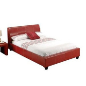 LPD Furniture Paris Double Bed, In Red