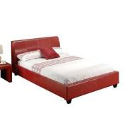 LPD Furniture Paris Kingsize Bed, In Red