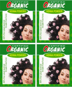 (Qty. 4) 100g Certified Organic Henna Powder for Hair Colour Conditioning. Golden Brown Colour.