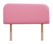 Lily (pink) 0.9m Cotton Headboard For Single Bed