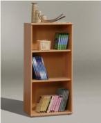 Tempra SHORT NARROW Beech Bookcase Bookshelf Home Office Furniture - UK ONLY
