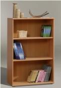 Tempra SHORT Wide Beech Bookcase Bookshelf Home Office Furniture - UK ONLY