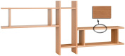 Posseik 9920 10 Shelf Unit with 3 Shelves Imitation Alder
