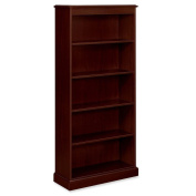 94000 Series Five-Shelf Bookcase, 35-3/4w x 14-5/16d x 78-1/4h, Mahogany - Sold As 1 Each