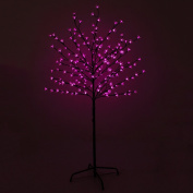 5ft (1.5m) Pre-Lit Pink 200 LED Illuminated Cherry Blossom Tree with Brown Trunk & Branches