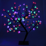 60cm (0.6m) Multi Colour 96 LED Illuminated Cherry Blossom Tree with Brown Trunk & Branches