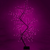 2m (6.6ft) Pre-Lit Pink 240 LED Illuminated Cherry Blossom Tree with Brown Trunk & Branches
