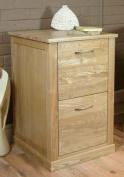 Mobel Solid Premium Oak 2 Drawer Filing Cabinet