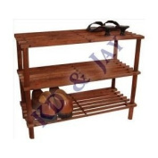 Wooden Shoe Rack 3 Tier Shelf Wood Stacking Storage