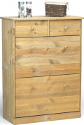 Steens Mario 17818830 Shoe Cupboard 103 x 78 x 35 cm Solid Pine Lyed Oiled