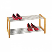 Zeller 13568 Shoe Rack 83 x 34 x 34 cm Bamboo / Stainless Steel