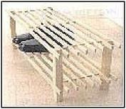 2 Tier Wood Shoe Rack