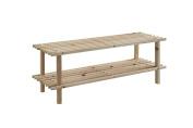 Zeller 13126 Shoe Shelf 2 Levels 80 x 26 x 29.5 Pine