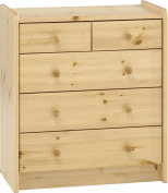 Steens for Kids 29001319 Chest of Drawers 72 x 64 x 38 cm Solid Pine Natural Varnish