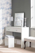 Chelsea White Glass Furniture Dressing Table -