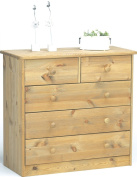 Steens Mario 17801230 Chest of Drawers 73 x 78 x 35 cm Solid Pine Lyed Oiled