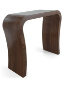 HIGH GLOSS WALNUT MODERN DESIGNER HALLWAY CONSOLE TABLE / DRESSING TABLE / SIDEBOARD