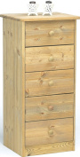 Steens Mario 17800530 Chest of Drawers 89 x 42 x 35 cm Solid Pine Lyed Oiled