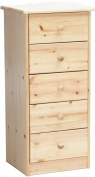 Steens Mario 17800519 Chest of Drawers 89 x 42 x 35 cm Solid Pine Natural Varnish