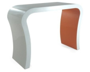 HIGH GLOSS WHITE AND ORANGE MODERN DESIGNER HALLWAY CONSOLE TABLE / DRESSING TABLE / SIDEBOARD