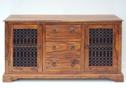 Indian Jali Thakat 2 Door 3 Drawer Large Sideboard