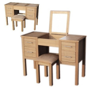 LPD Furniture Oakridge Dressing Table & Stool In Oak