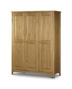 Julian Bowen Kendal 3 Door Wardrobe, Natural