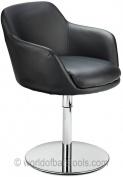 Bucketeer Swivel Chair Black