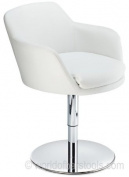 Bucketeer Swivel Chair White