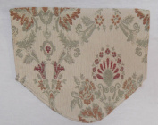 Chair Back Cover Floral Chenille Cream Beige