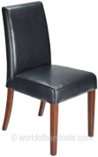 Firenze Dining Chair Black Leather