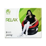 Latex Love The Movie Inflatable Chair, 88 x 85 x 65 cm, Red/ Black