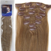 20''7pcs Fashional Clips in Remy Human Hair Extensions 24 Colours for Women Beauty .