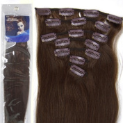 20''7pcs Fashional Clips in Remy Human Hair Extensions 24 Colours for Women Beauty.