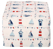 """Children's Tidysleep Chair Bed in """"Seaside"""" Fabric. Made in Britain"""