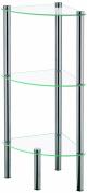 Kela OLE 18050 Corner Shelf 3 Levels 28.5 x 28.5 x 76 cm Metal / Glass