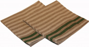 Pinetta - Sauna bench cover - stripes, green 2 pcs, 45x50 cm (Original from Finland) [9999]