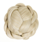 Platinum Blonde Lattice Effect Clip In Bun | Clip On Glamorous Hairpiece | Available in 5 Colours