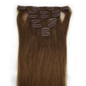 "15"" (Col 8). Light blond Brown Full Head 7 PCS Clip in Remy 100% Human Hair Extensions. 18""20""22""all colours 70g Weight"