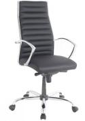 Alphason Hartford Black Swivel Office Chair