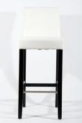 Barstools wood White Faux leather adjustable floor glides Michael
