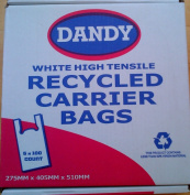 Dandy White High Tensile Recycled Plastic Carrier Bags 500