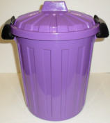 STORAGE - WASTE - RECYCLING - KITCHEN - BEDROOM - BIN 7 LITRE WITH CLIP ON LID - PURPLE