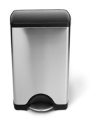 simplehuman Rectangular Pedal Bin, 38 L - Brushed Stainless Steel